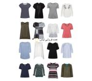 خانمها به علاوه حجم مد به علاوه اندازه تی شرت تاپس بلوز اندازه بزرگ باقی مانده مخلوط سهام