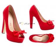 کفش های زنانه پمپ پا پا پاشنه سرخ