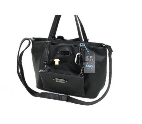 کیسه های کیف زنان کیسه های شانه ای کیسه های کیف پول PU کیسه های سیاه