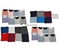 پولو Assn ایالات متحده تی شرت Uni Striped مردان پیراهن برندهای مخلوط