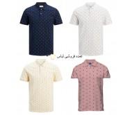 یقه های جک و جونز با طرح مخلوط پیراهن چوگان مردانه