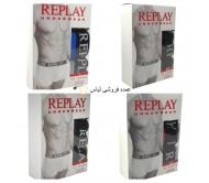 مخلوط لباس زیر مردانه شورت بوکسر - 3 بسته Replay